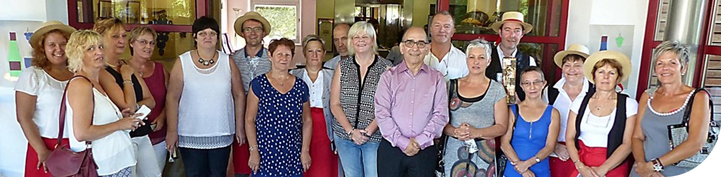 25 ans de jumelage avec St Quirin - mise à l'honneur du personnel de plus de 25 ans d'ancienneté